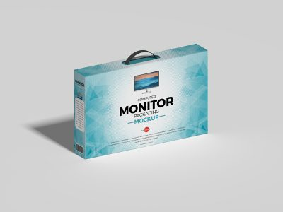 Computer Monitor Packaging Free Mockup