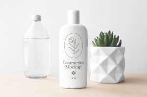 Cosmetics Bottle – Free PSD Mockup