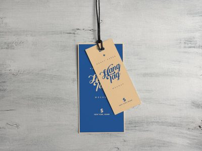 Dual Cloth Hanging Tag - Free Mockup PSD