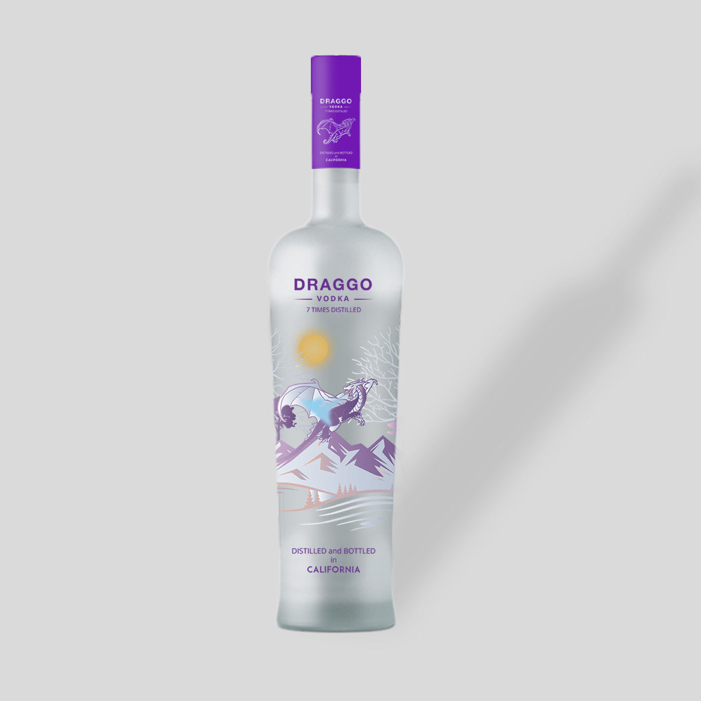 Frosted Vodka Bottle - Free PSD Mockup