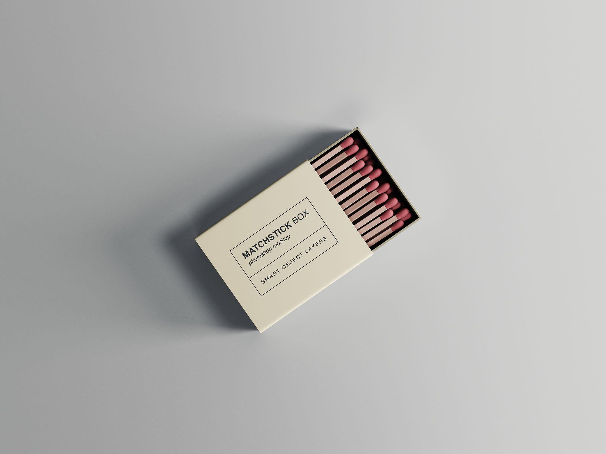 Matchstick Box - Free PSD Mockup
