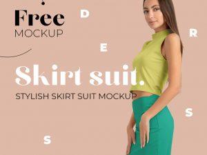 Modern Skirt Suit Free Mockup