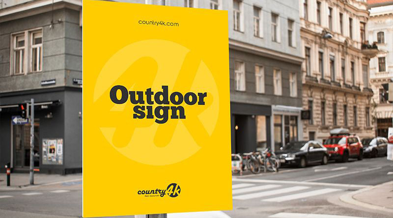 Outdoor Sign Free PSD Mockups