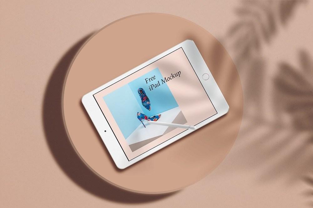Realistic iPad Free PSD Mockup