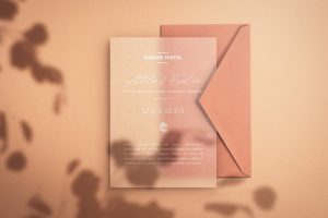 Save the Date – Envelope & Paper Mockup