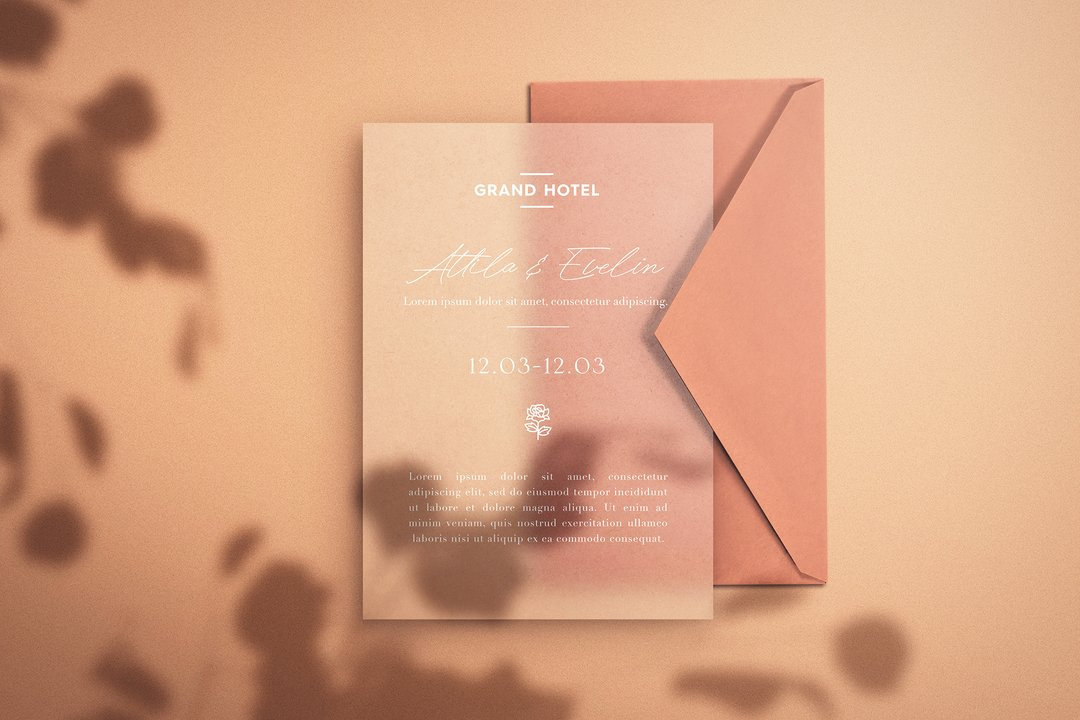 Save the Date - Envelope & Paper Mockup