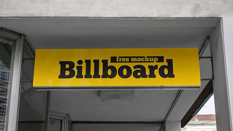 Simple Billboard Free PSD Mockup