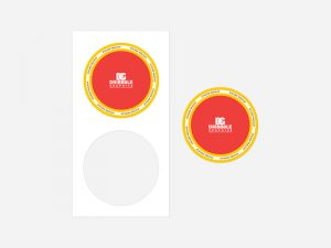 Top View Branding Sticker Free Mockup
