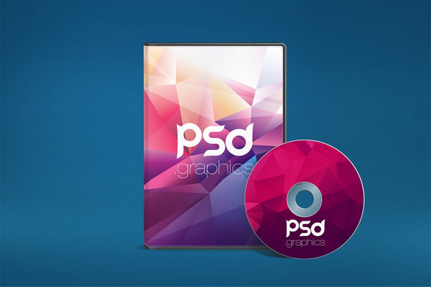 Disk And CD DVD Case - Free PSD Mock-ups