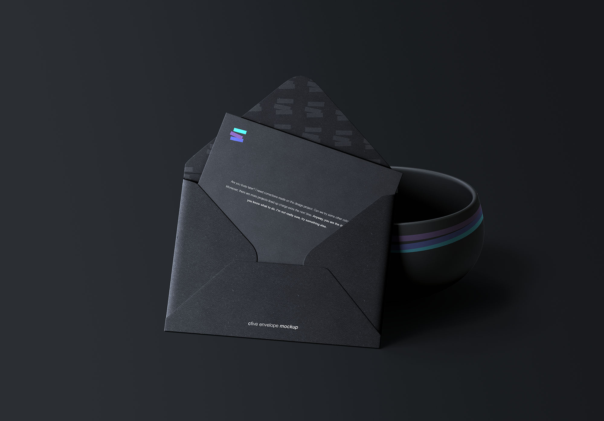 Free Envelope & Bowl Mockup