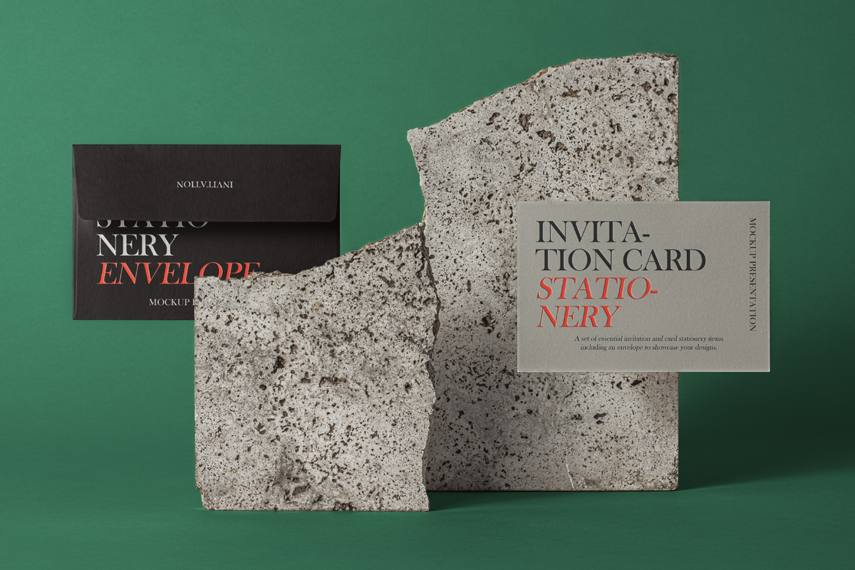 Free PSD Invitation Mockup Set