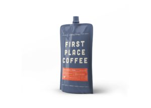 Free Stand-up Coffee Pouch Mockup