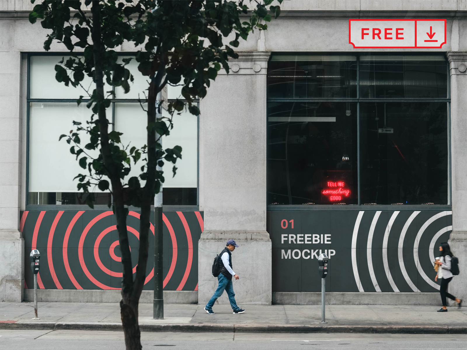 Free Storefront Signs Mockup