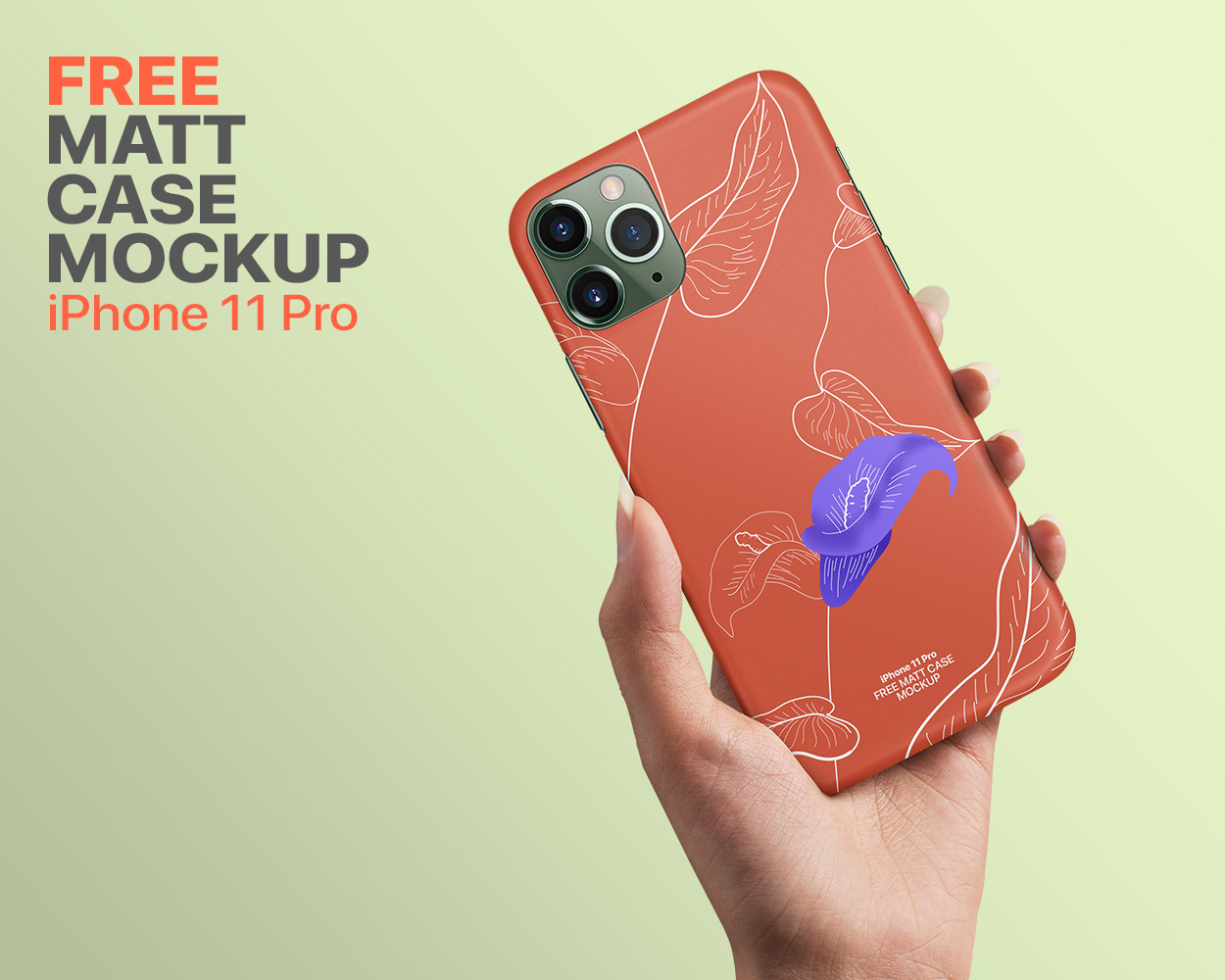 Free iPhone 11 Matt Case Mockup
