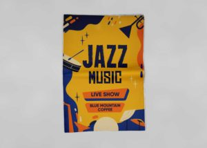 Jazz Music Flyer – Free PSD Mockup