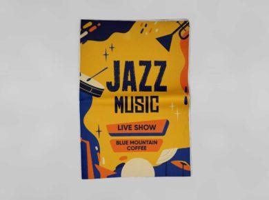 Jazz Music Flyer - Free PSD Mockup