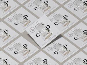 Modern Square Business Card Free Mock-ups