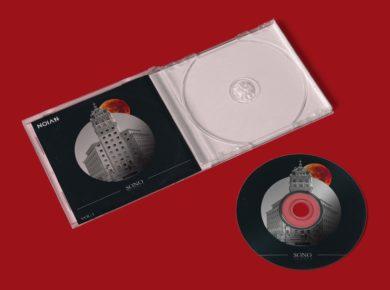 Plastic CD Cover & CD - Free Mockup