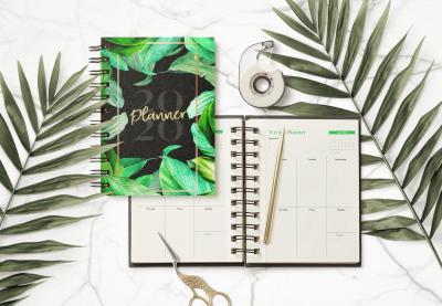 Realistic Notebook 2020 Free Mockup