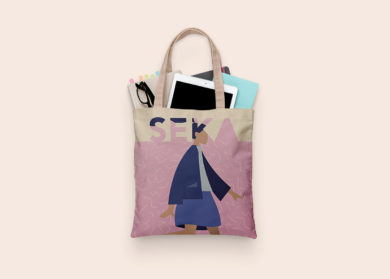 Seka Tote Clothe Bag Free PSD Mockup