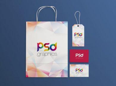 Shopping Brand Identity Free Mockup Set