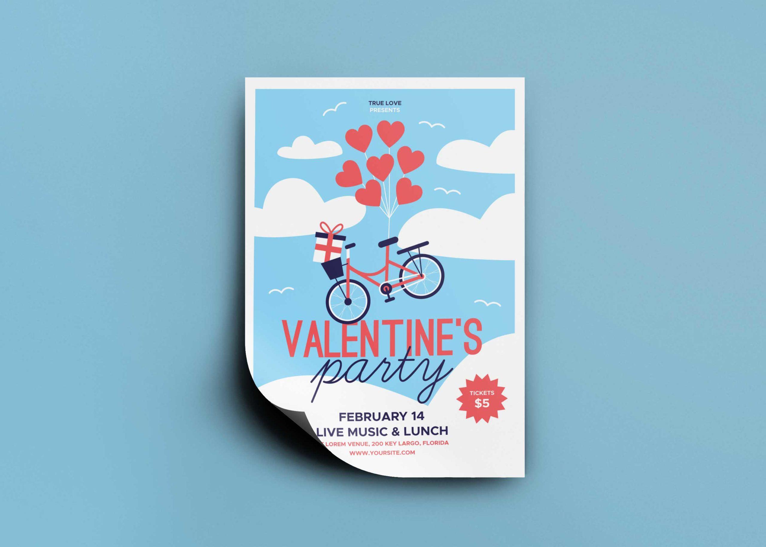 Valentine Flyer - Free PSD Mockup