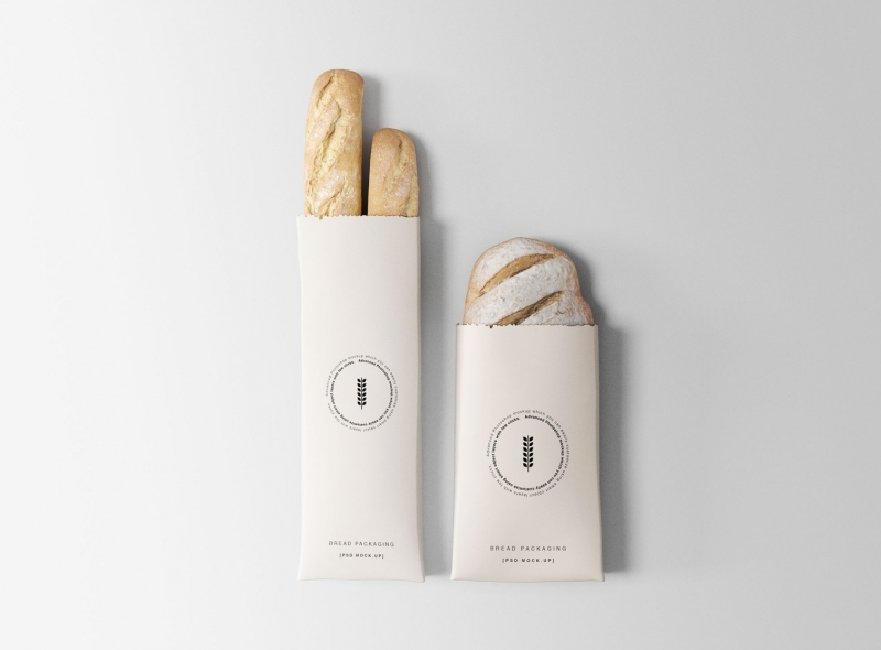 Bread Packaging Free PSD Mock-ups