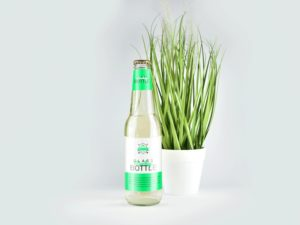 Clear Glass Bottle Free Mockup