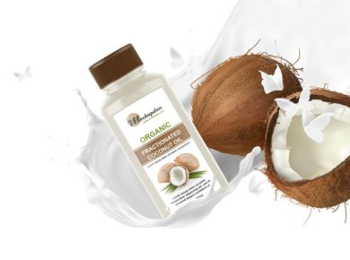 Coconut Oil Bottle Free PSD Mockup