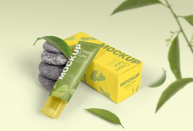 Cosmetic Cream Tube - Free PSD Mockup