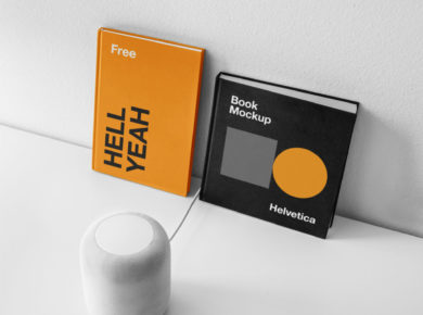 Free Book Covers PSD Mockup