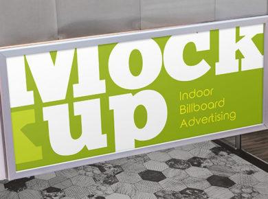 Free Indoor Billboard Advertising PSD Mockup
