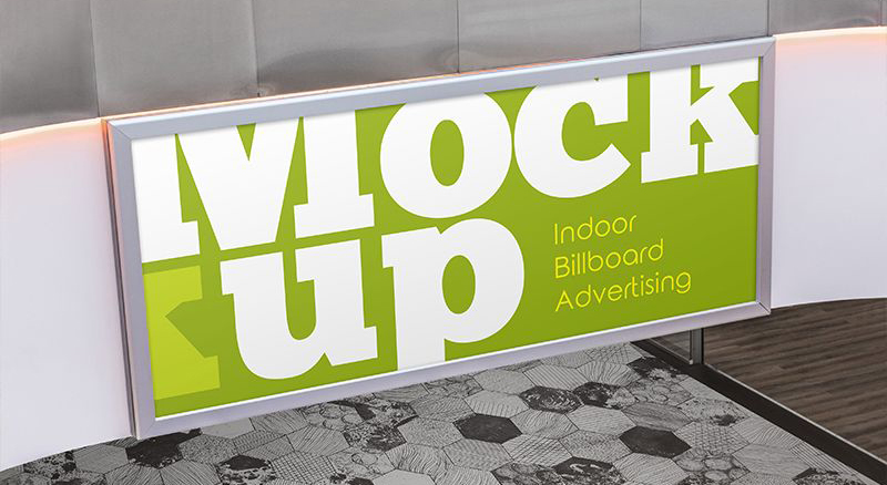 Free Indoor Billboard Advertising PSD Mockup