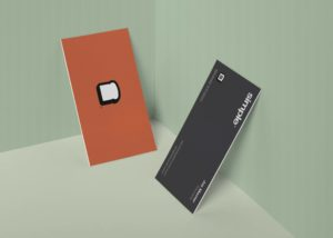 Free Minimal Vertical Business Card Mock-ups