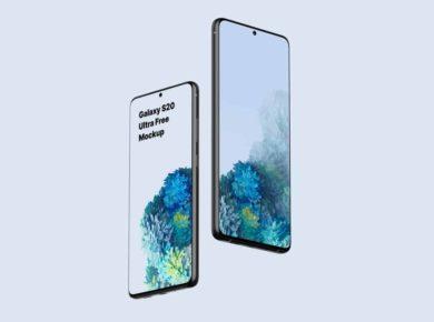Galaxy S20 Ultra - Free PSD Mockup