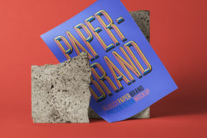 Glossy Paper Brand – Free PSD Mockup