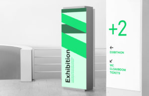 Indoor Signage – Free PSD  Mockup
