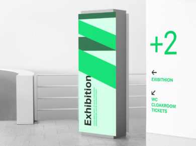 Indoor Signage - Free PSD Mockup
