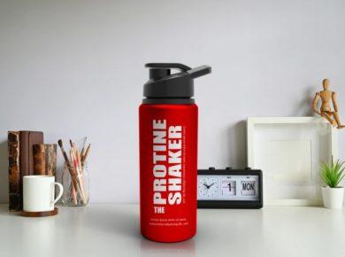 Metallic Protein Shaker Free PSD Mockup