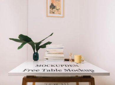Minimal Table Mockup Free PSD Template