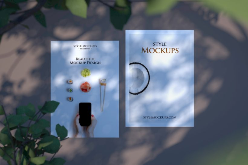 A5 Flyer With Realistic Scene Free Mock-ups