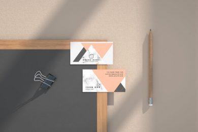 Business Card Mockup Kit Free PSD Template