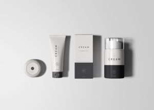 Essential Cosmetics Packaging Set Free PSD Mock-ups