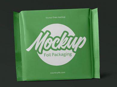 Foil Pack - Free PSD Mockup