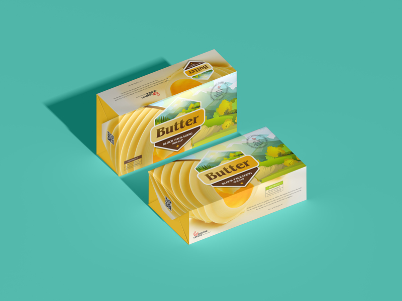 Free Butter Block Packaging Free PSD Mockup