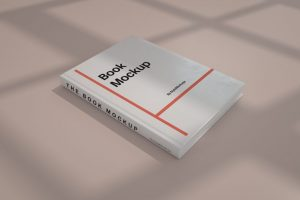 Free Closed Hardcover Book Mockup
