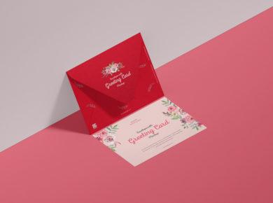 Free Envelope & Greeting Card Mockup
