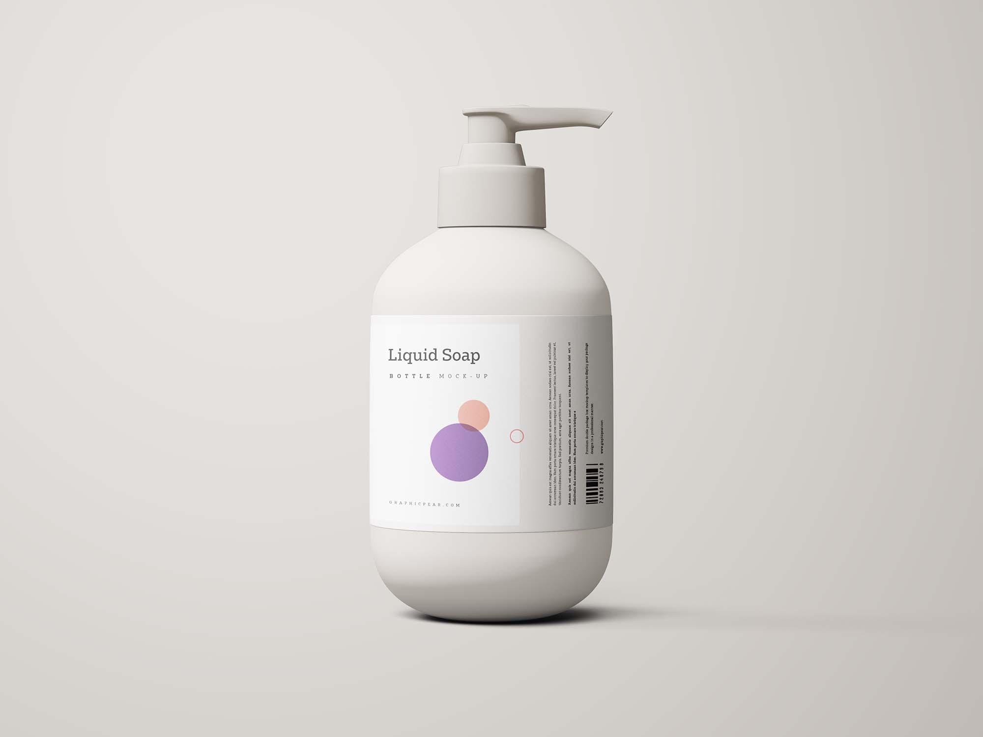 Free Hand Sanitizer Bottle Mockup