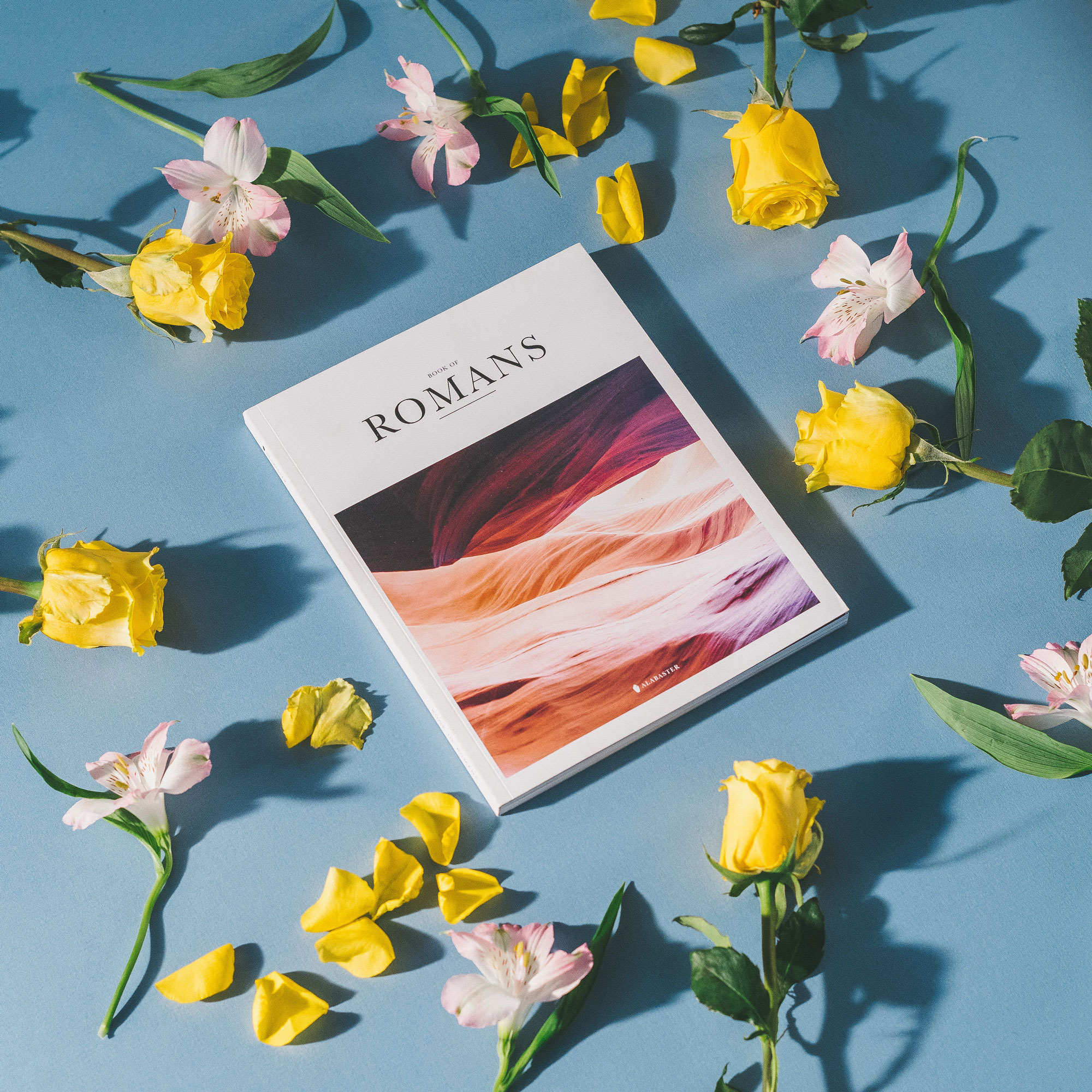 Free Magazine Among Flowers Mockup