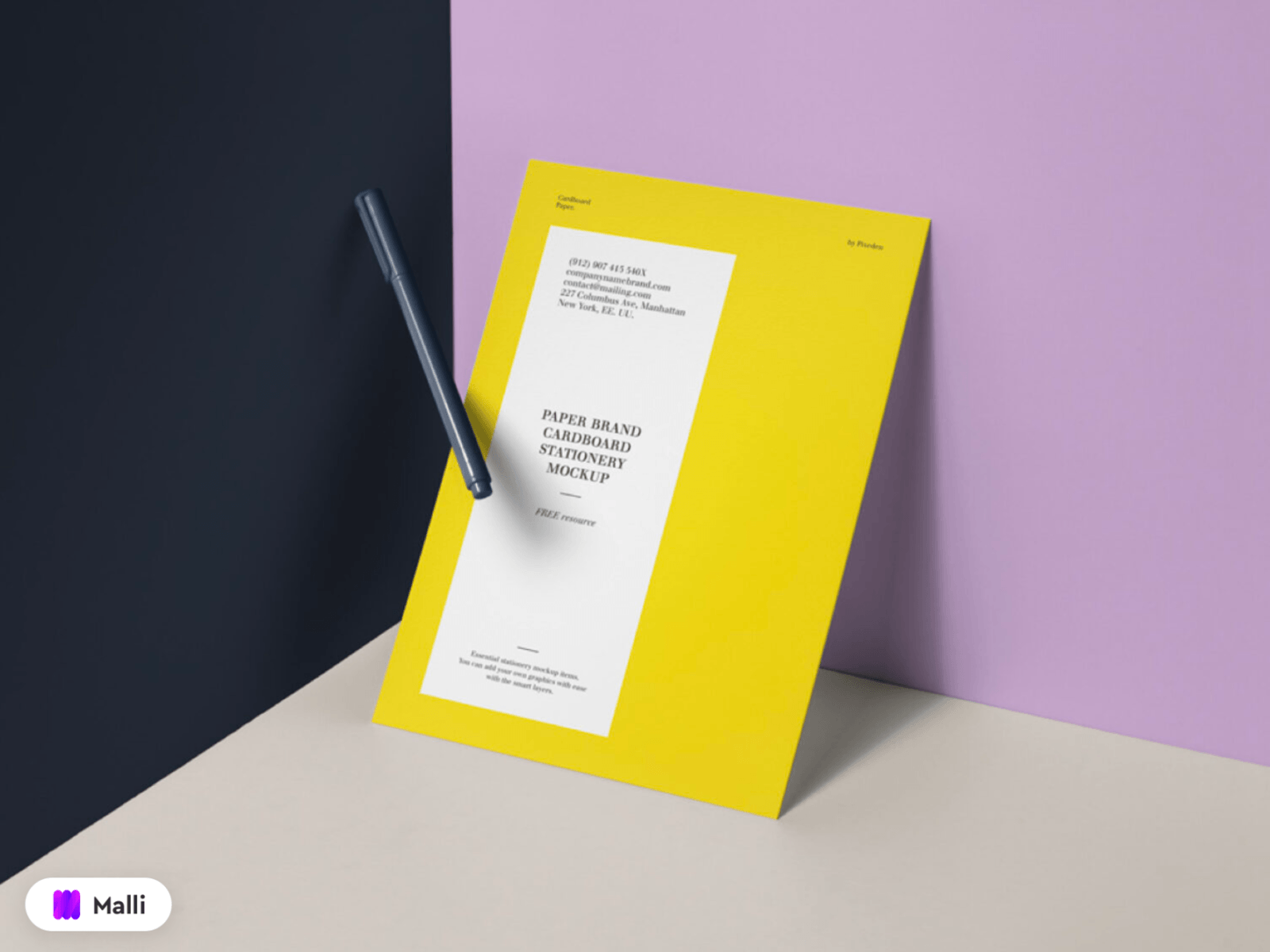 Free Paper Brand Mockup Template